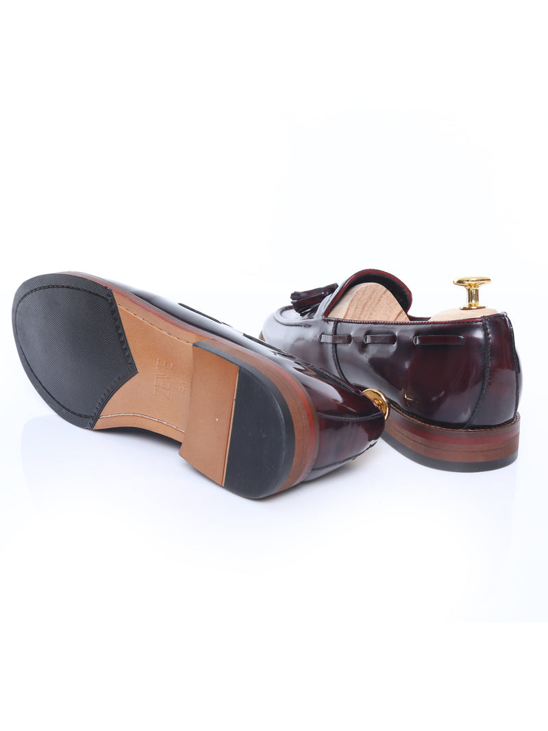 Tassel Loafer - Oxblood Polished Leather