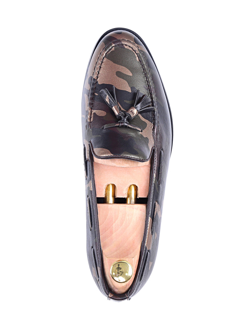 Tassel Loafer - Camouflage Leather