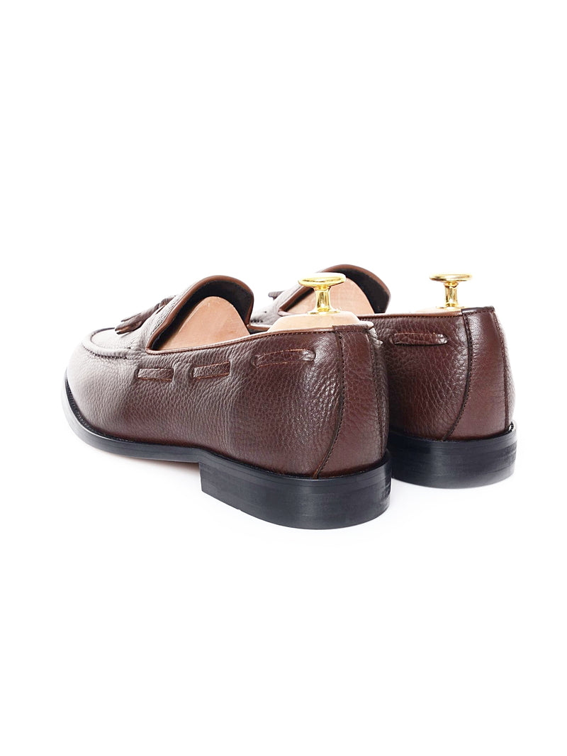 Tassel Loafer - Dark Brown Pebble Grain