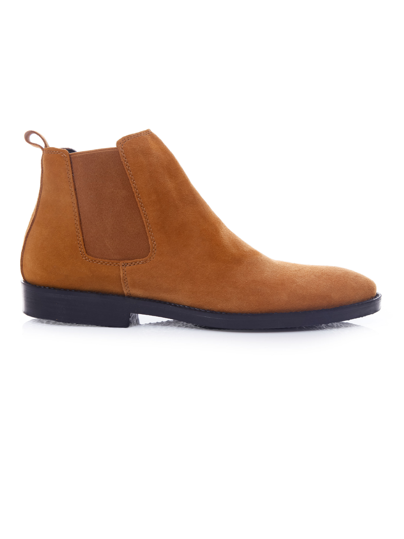 Chelsea Boots - Suede Tan Leather (Crepe Sole)