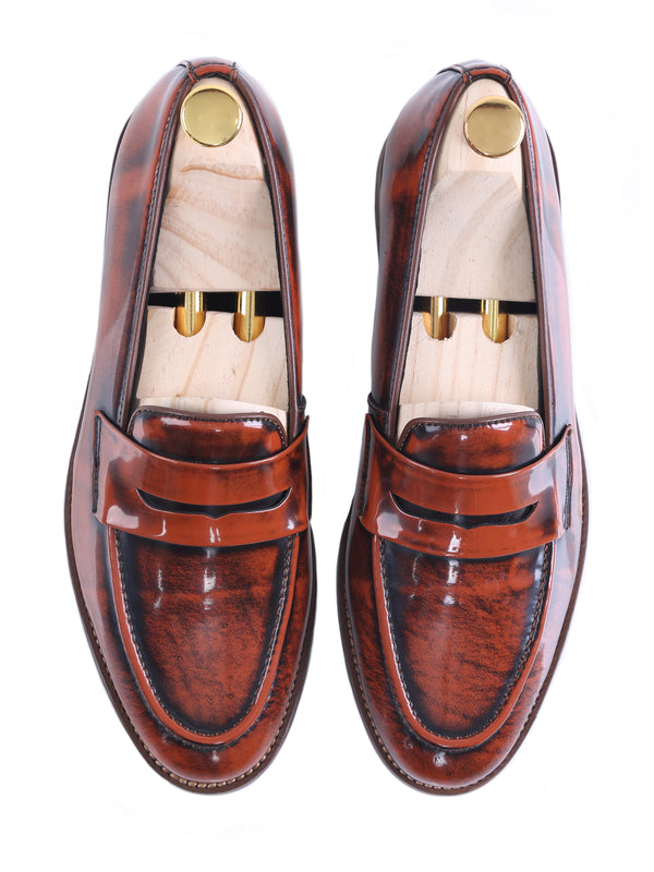 Penny Loafer - Tan Polished Leather