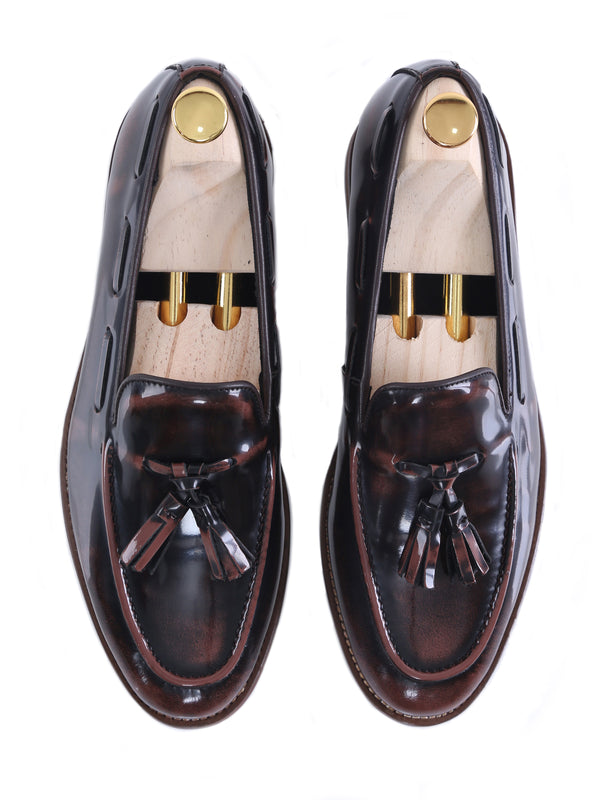 Tassel Loafer - Dark Brown Polished Leather