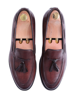 Tassel Loafer - Dark Brown (Hand Painted Patina)
