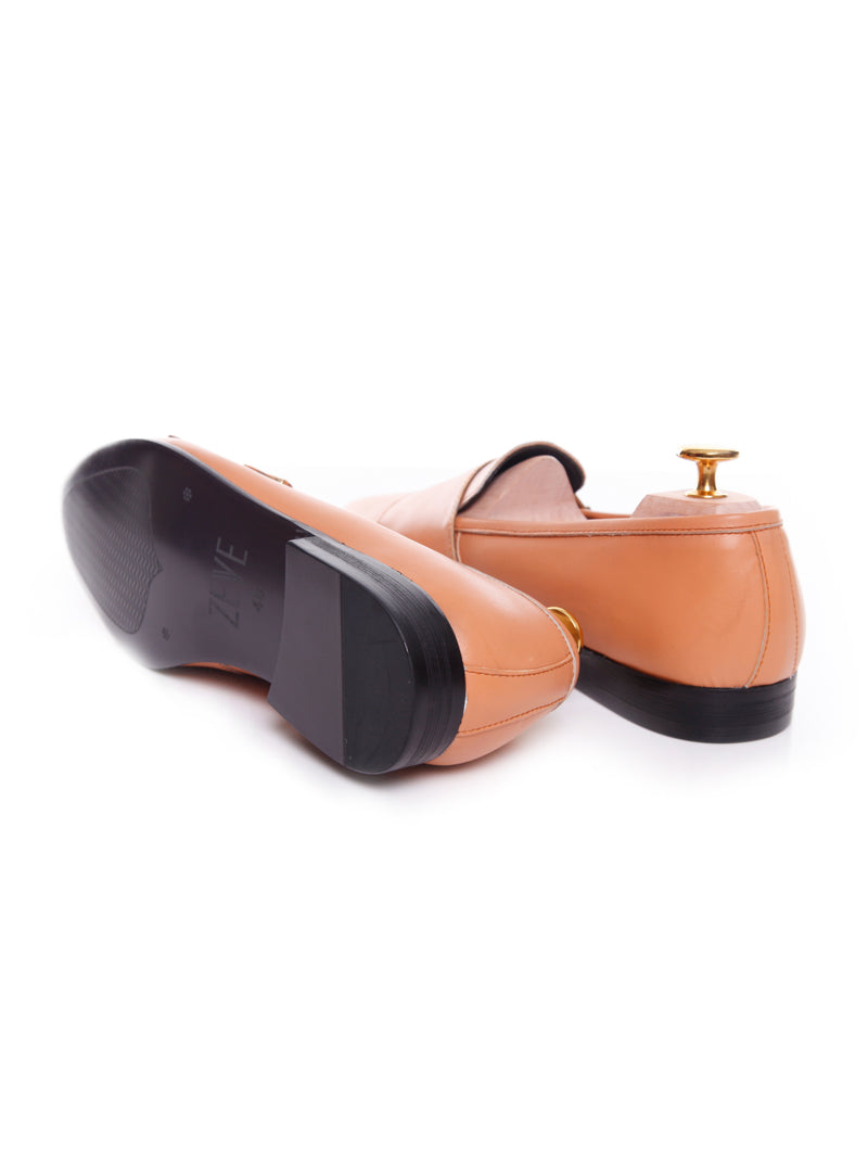 Women Loafer Slipper in Peach Double Monk Strap
