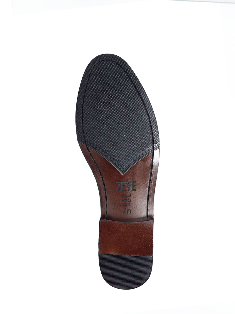 Belgian Loafer With Penny - Coffee Leather (Phyton Embossed Strap)