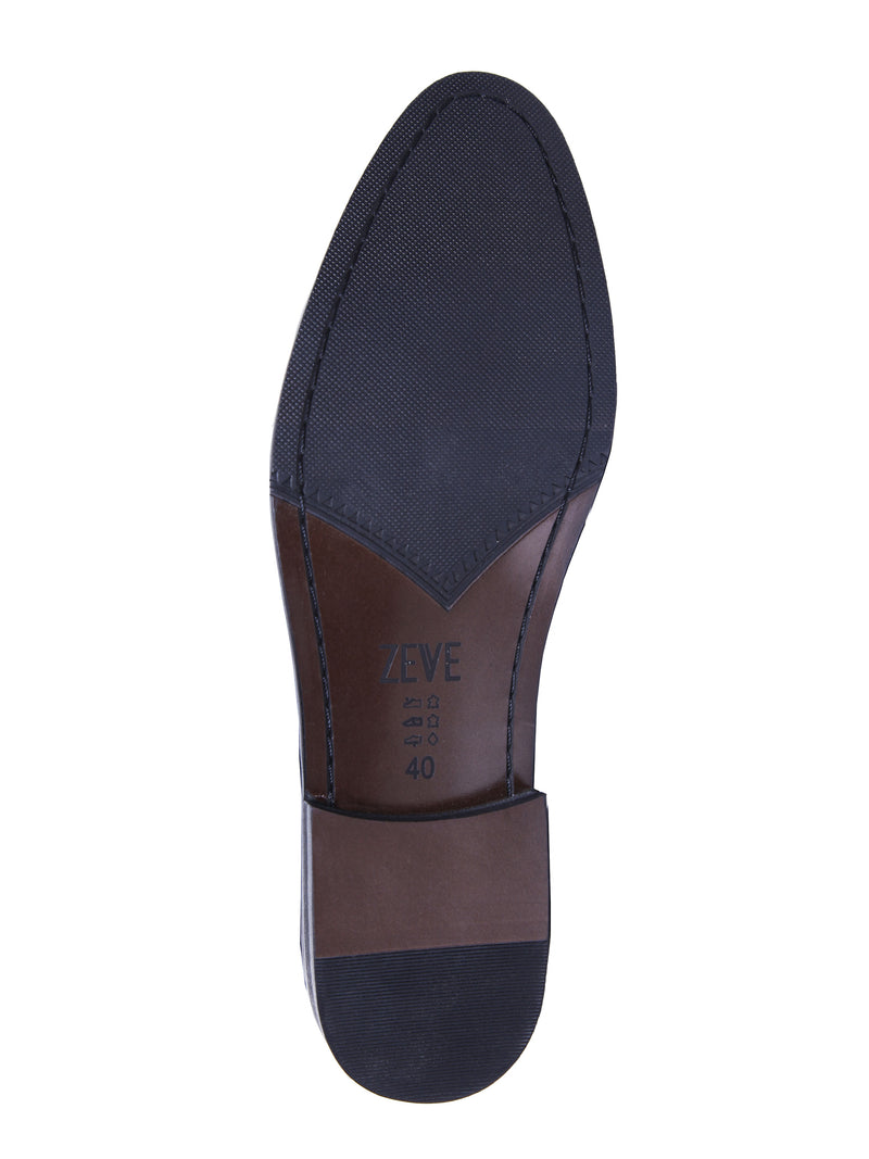 Loafer Slipper Double Monk - Brown Leather