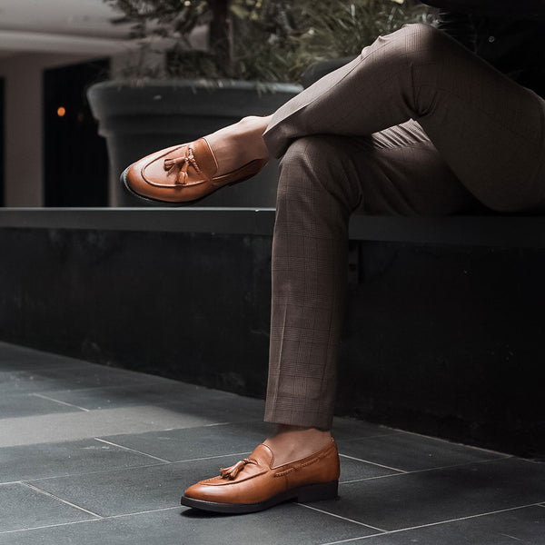 Tassel Loafer - Tan Leather (Crepe Sole)