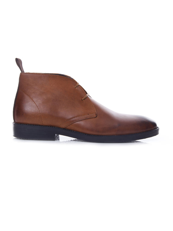 Chukka Boots - Brown Burnished (Crepe Sole)