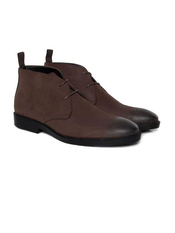 Chukka Boots -  Coffee Nubuck Leather (Crepe Sole)