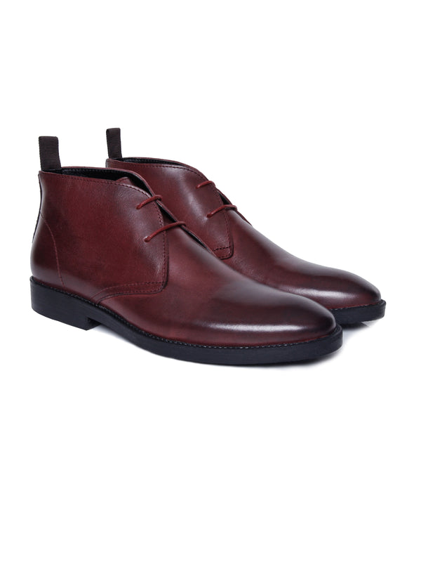 Chukka Boots - Red Burnished (Crepe Sole)
