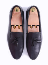 Loafer Slipper - Black Grey (Hand Painted Patina)