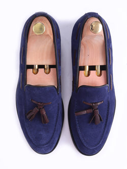 Tassel Loafer - Suede Navy Blue