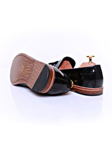 Tassel Loafer - Black Polished Leather (Normal Last)
