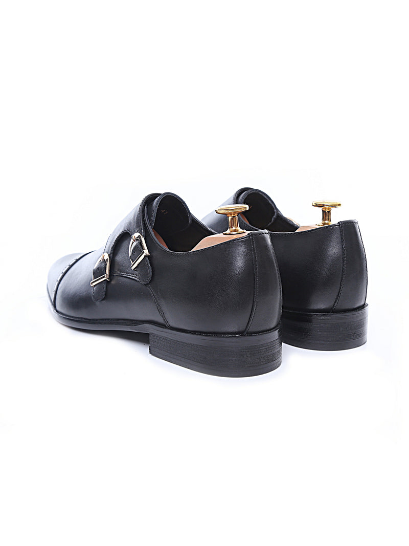 Double Monk Strap - Black