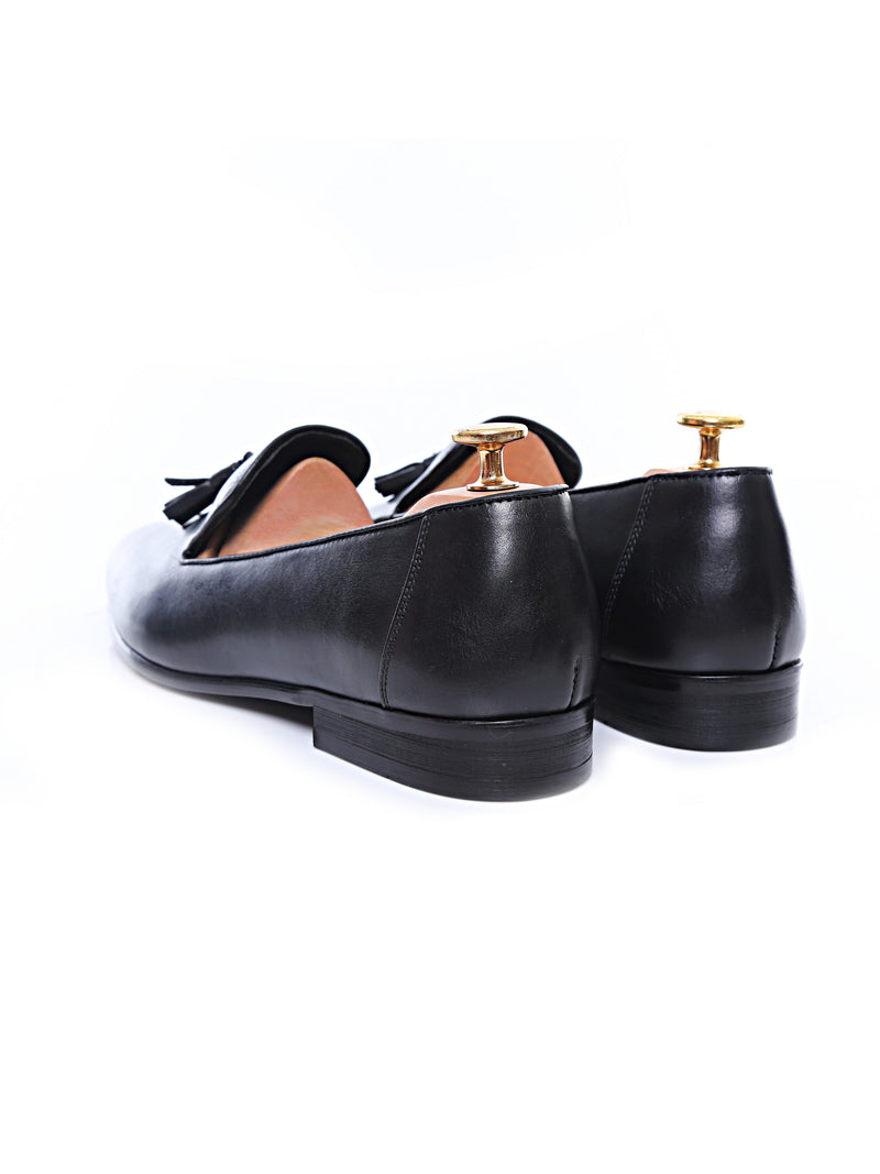 Loafer Slipper - Black Leather