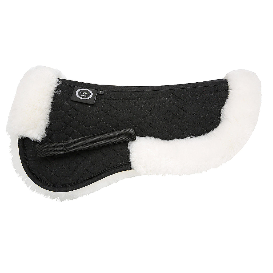 Lucci | Sheepskin Numnah | Black with White Fleece