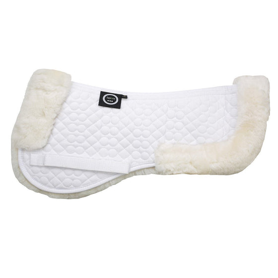 Lucci | Sheepskin Numnah | White with White Fleece