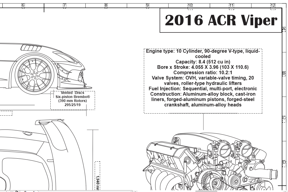 2016 dodge viper and 84 l v10 specs and info engraved blueprint art 2016 dodge viper and 84 l v10 specs and info malvernweather Image collections