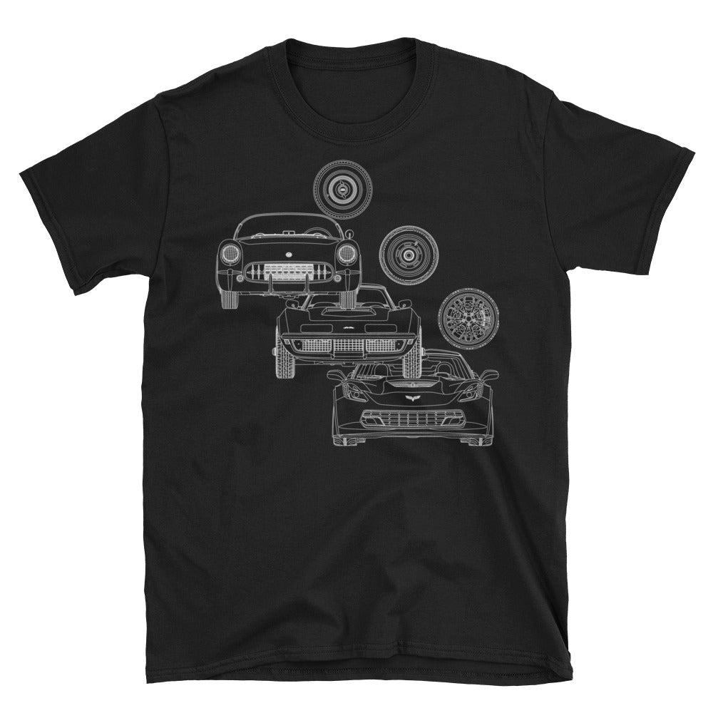 Evolution Of A Legend Series Corvette T-Shirt