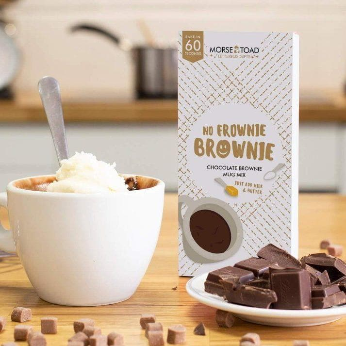 'No Frownie Brownie' Cake In A Mug Mix - Personalised Gifts - Morse Toad