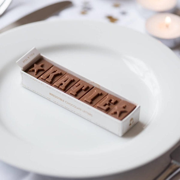 chocolate place cards
