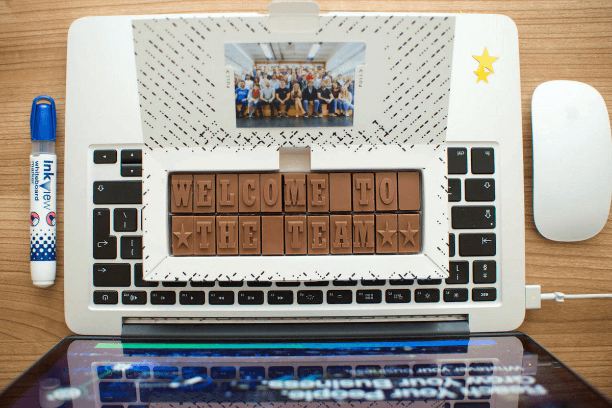 personalised chocolate business gift