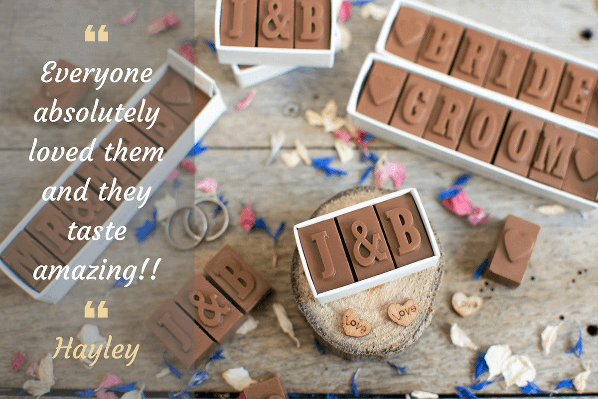 Personalise Chocolate Wedding Favours