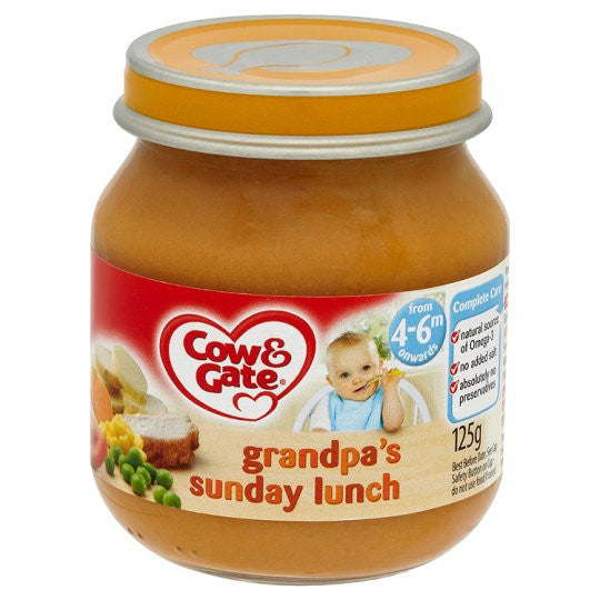 Cow & Gate Baby Balance Grandpas Sunday Lunch 125g (case of 6)