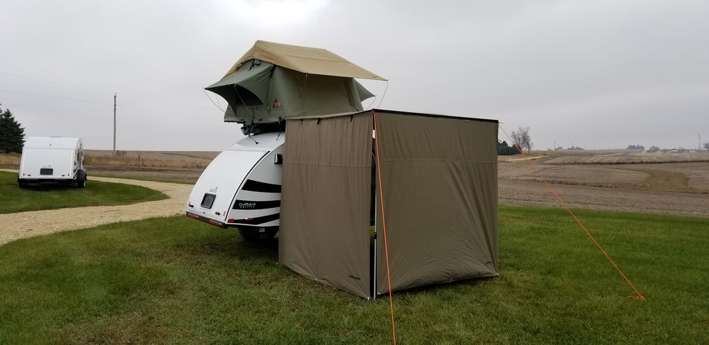 T g teardrop trailer with roof top tent custom build for T g roofing