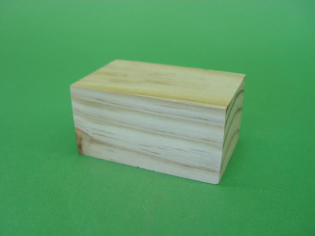 BLOCK WOODEN 80 x 50 x 40mm