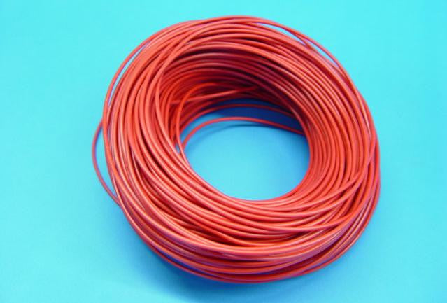 WIRE STRANDED 100m  5A RED