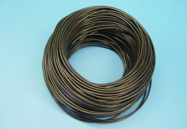WIRE STRANDED 100m 10A BLACK