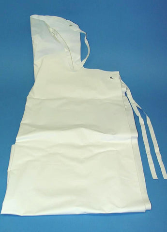 APRON LAB. WHITE PVC 1.1mx70cm