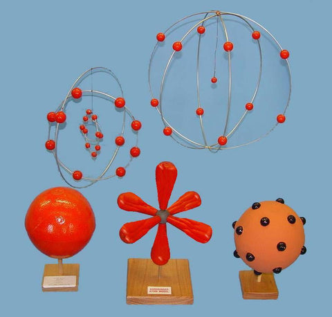ATOM MODEL HISTORICAL SET OF 5