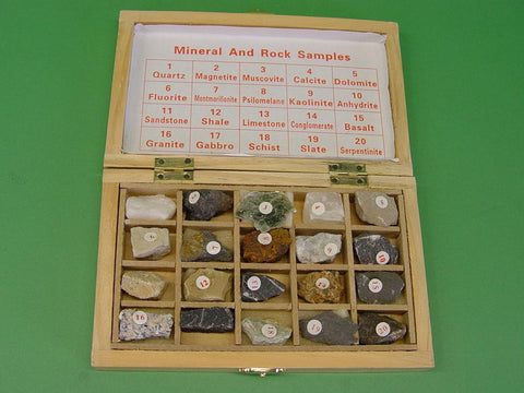GEOLOGICAL ROCK SPECIMEN SET