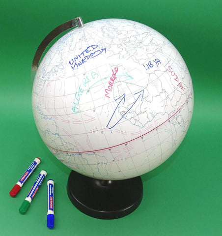 GLOBE WHITE WRITABLE