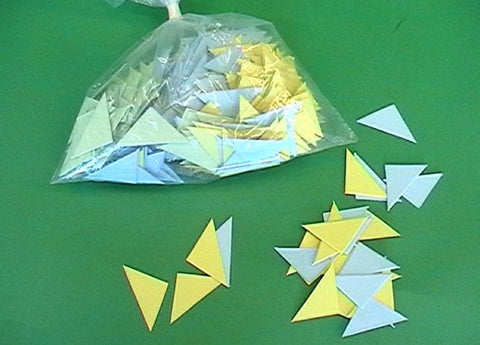 CARD TRIANGLES 0.25mm PKT 1000