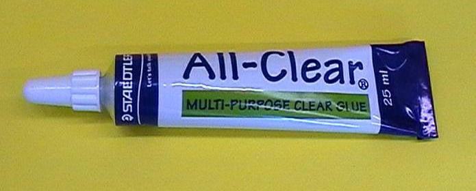 GLUE CLEAR IN TUBE SMALL