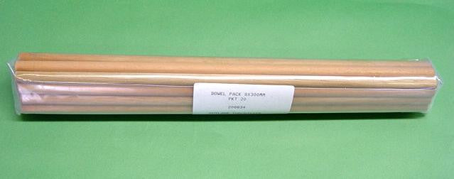 DOWELS  8x300mm PKT20