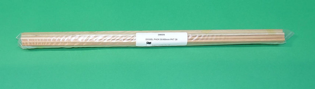 DOWELS  5x450mm PKT20