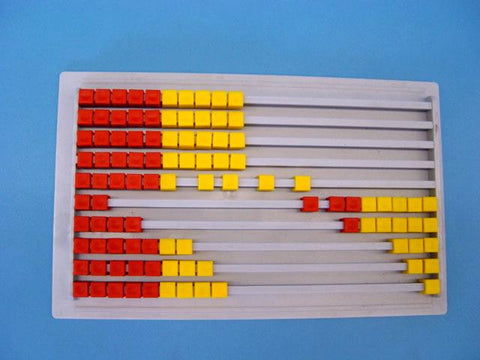 ABACUS SLIDE 2 COLOUR 100 BEAD
