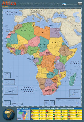 CHART AFRICA POLITICAL/PHYSIC.