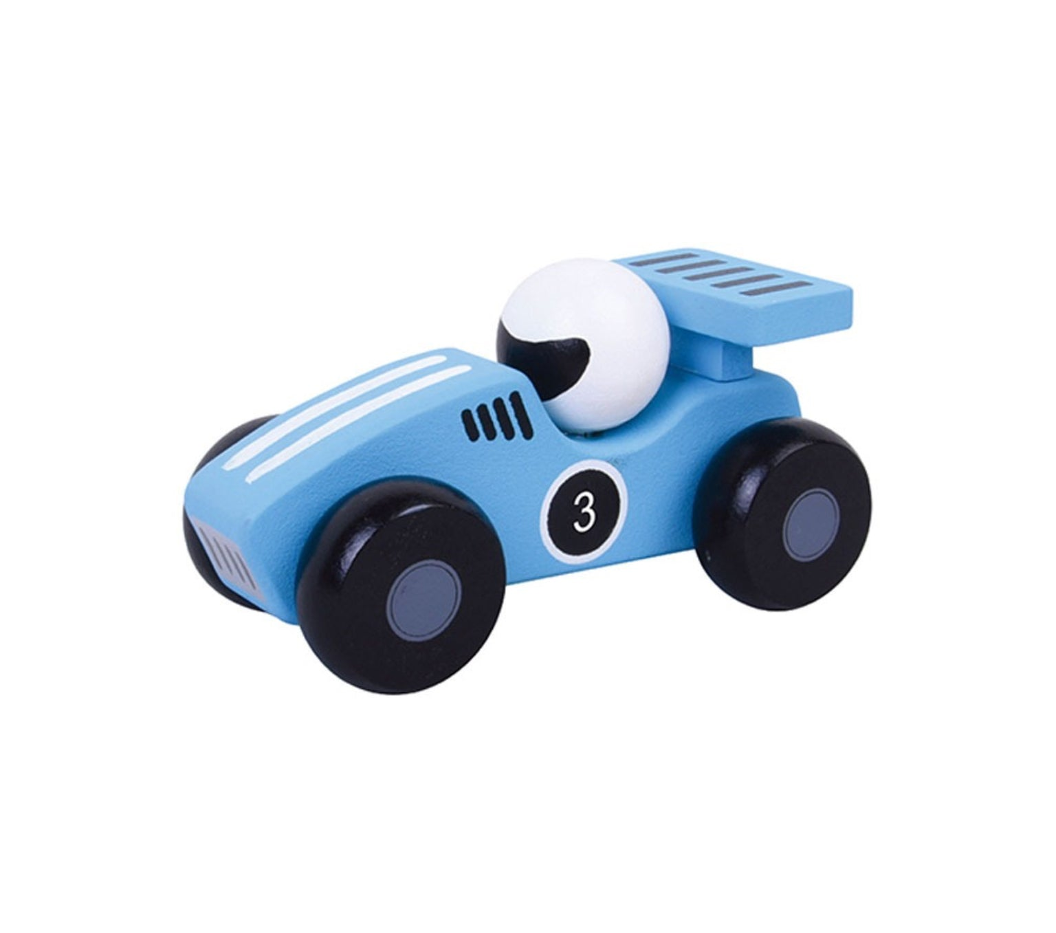 Copy of Jumini Wooden Blue Racing Car Toy