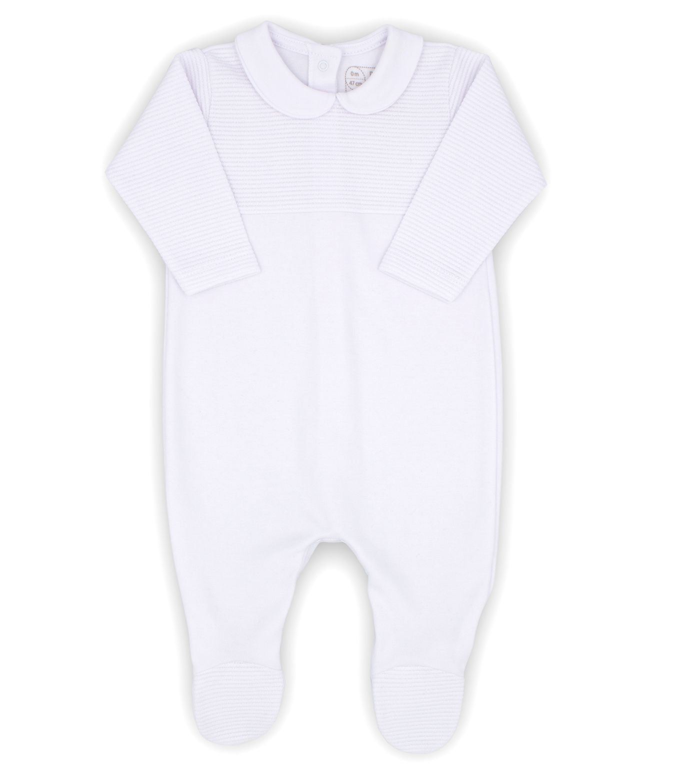 Rapife Baby Unisex White Cotton Babygrow Peter Pan Collar Gift