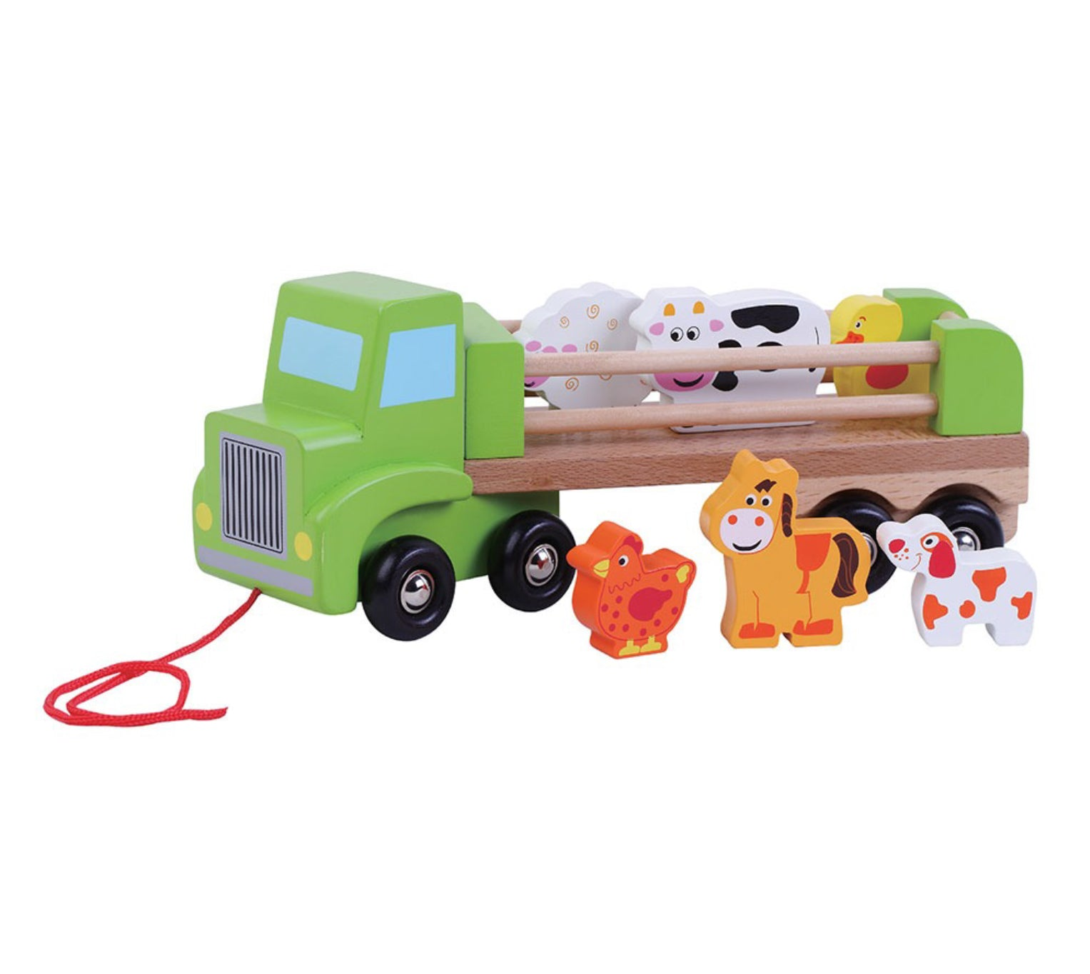 Jumini Wooden Farm Lorry Toy