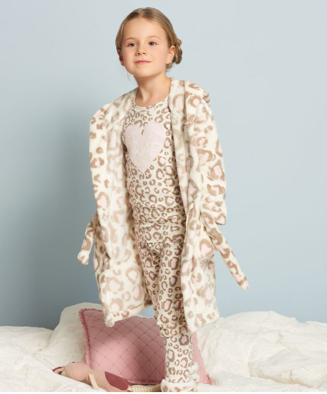 Hatley Painted Leopard Fleece Slippers