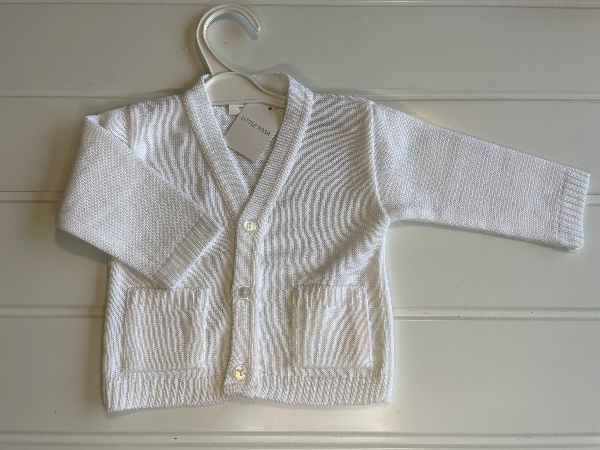Baby White Cardigan Traditional Spanish Style Little Nosh