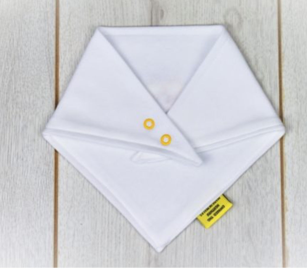 Sketch Daffodil White Dribble Bib From Babi Bw