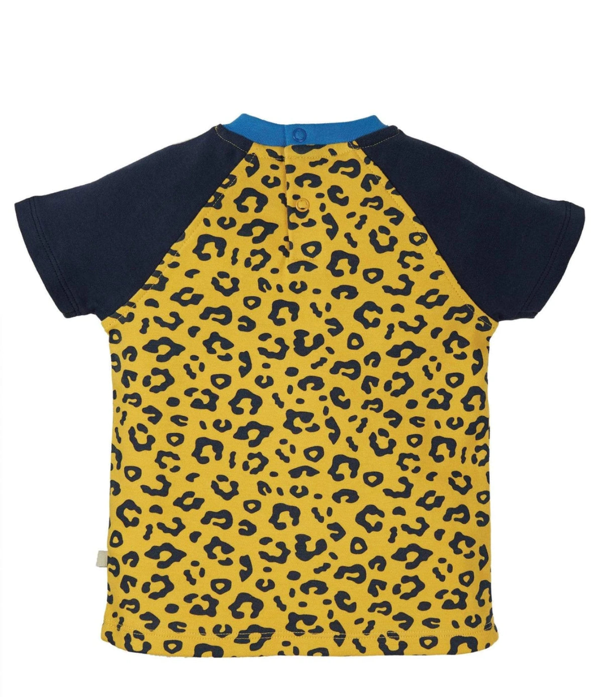 Frugi Happy Raglan T-Shirt Top Leopard Spot