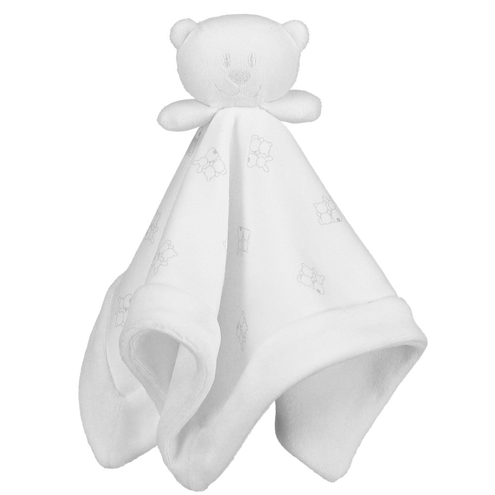 Emile et Rose White Emile Bear Soft Velour Comforter Toy